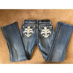 LA IDOL light wash jeans short size 5